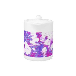 De paarse Theepot van de Bloesem
