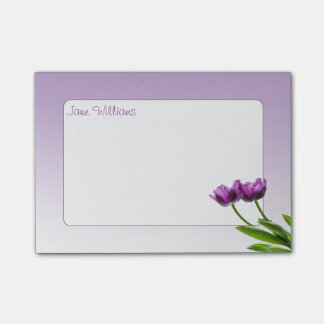 De paarse TweelingTulpen springen Bloemen Post-it® Notes