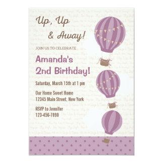 (De Paarse) Uitnodiging van de Verjaardag van de 12,7x17,8 Uitnodiging Kaart