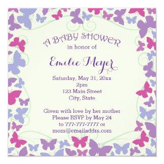 De paarse Uitnodiging van het Baby shower van