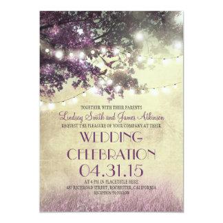 De paarse Uitnodiging van het Huwelijk van de