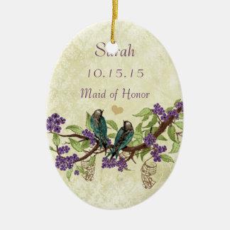 De paarse Vintage Ornamenten van het Eerste