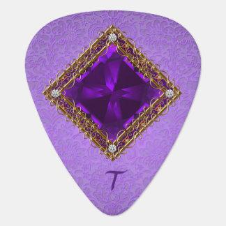 De paarse Violetkleurige Oogst van de Gitaar Plectrum