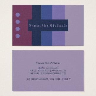 De paarse Visitekaartjes van het Blok van de Kleur