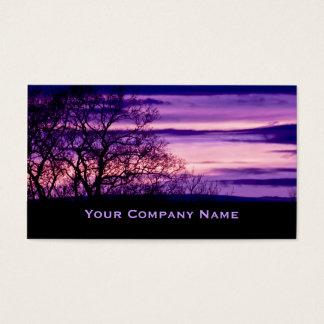 De paarse Visitekaartjes van het Silhouet van de