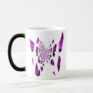 De paarse Vleugels van de Vlinder Magische Mok
