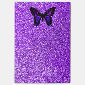 De paarse Vlinder schittert Post-it® Notes
