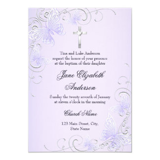 De paarse Vlinder van de Werveling & het 12,7x17,8 Uitnodiging Kaart