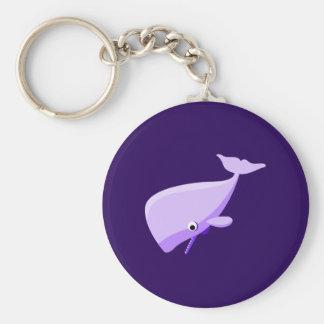 De paarse Walvis van de Cartoon Sleutelhanger