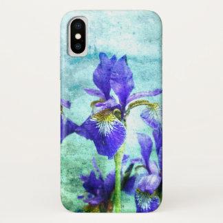 De paarse Waterverf van de Iris iPhone X Hoesje