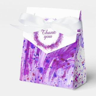 De paarse waterverfkunst dankt u giftdoos bedankdoosjes