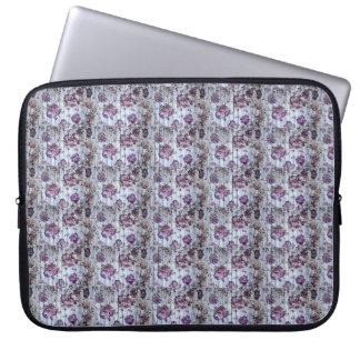 De paarse Zak van de Elektronika van het Patroon Laptop Sleeve