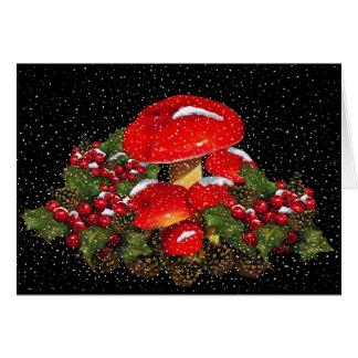 De Paddestoel van Kerstmis, Giftige paddestoelen, Wenskaart