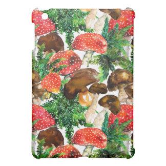 De paddestoelen van de waterverf en groen iPad mini covers