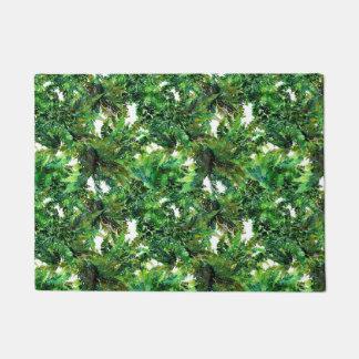 De paddestoelen van de waterverf en het groene deurmat
