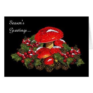 De Paddestoelen van Kerstmis op Zwarte, Sneeuw, Briefkaarten 0