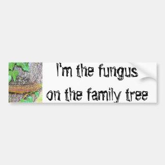 De paddestoellijn van de familie bumpersticker