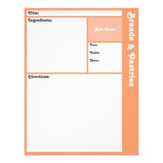 De Pagina's van het recept (Perzik) Flyer 21,6 X 27,9 Cm