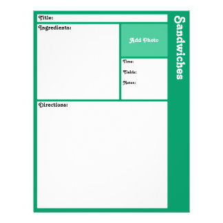 De Pagina's van het recept (Wintertaling) Flyer 21,6 X 27,9 Cm