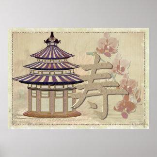 De pagode nam Gemengde Media Oosterling toe Poster