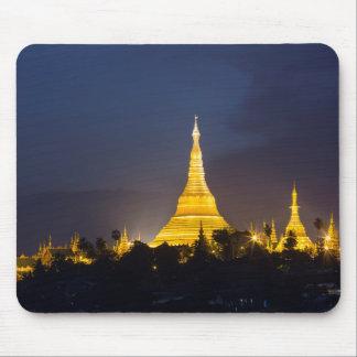 De Pagode van Shwedagon bij Nacht Muismat