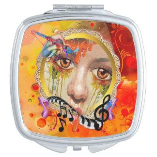 De pallet van de Kunstenaar Makeup Spiegeltje