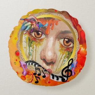 De pallet van de Kunstenaar Rond Kussen