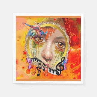 De pallet van de Kunstenaar Wegwerp Servet