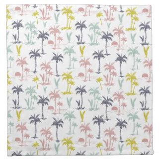 De Palm van de pastelkleur door het Patroon van Katoenen Servet