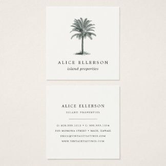 De Palm van Havana Vierkante Visitekaartjes