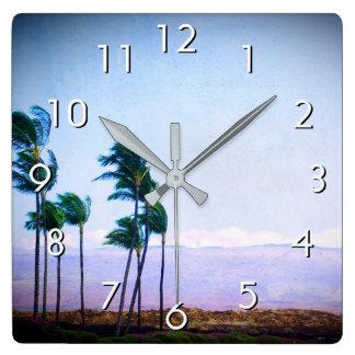 De palmen van Hawaï & de paarse foto van het Vierkante Klok