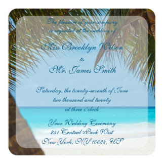 De Palmen van het monogram op de Uitnodigingen van