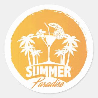 De Palmen van het Paradijs van de zomer en Sticker
