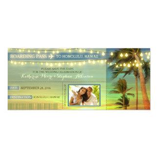 De Palmen van lichten bewaren de Kaartjes van de 10,2x23,5 Uitnodiging Kaart