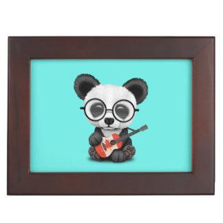 De Panda die van het baby de Canadese Gitaar van Herinneringen Doosje