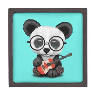 De Panda die van het baby de Canadese Gitaar van Premium Juwelen Doos