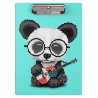 De Panda die van het baby de Dominicaanse Gitaar Klembord
