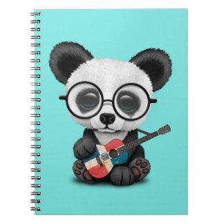 De Panda die van het baby de Dominicaanse Gitaar Ringband Notitieboek