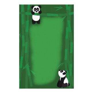 De panda draagt Briefpapier
