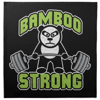 De panda draagt Cartoon - Sterk Bamboe - Deadlift Katoenen Servet