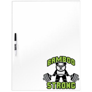 De panda draagt Cartoon - Sterk Bamboe - Deadlift Whiteboard