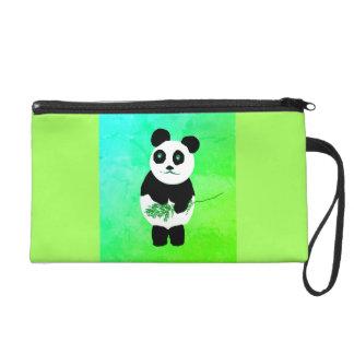 De panda draagt de Zak/de Beurs van het Wristlet