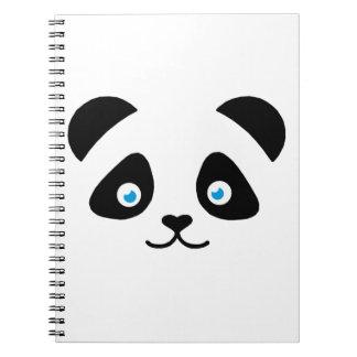 de panda draagt gezicht notitieboek