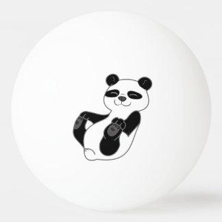 De panda draagt Welp Pingpongbal