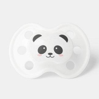 De panda draagt Zwart-witte Binky Fopspeentje