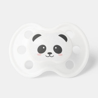 De panda draagt Zwart-witte Binky Speen