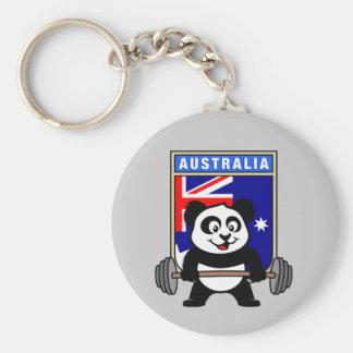 De Panda van Australië Weightlifting Sleutelhanger
