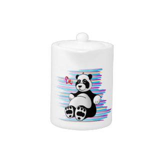De Panda van de cartoon draagt Gevuld Dier