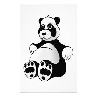 De Panda van de cartoon draagt Gevuld Dier Briefpapier