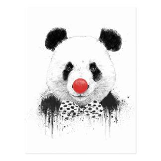 De panda van de clown briefkaart